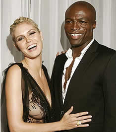 Aryan supermodel Heidi Klum with her husband