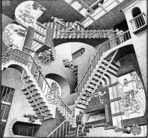 Relativity (M.C. Escher)