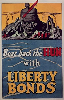 World War One Propaganda Poster Liberty Bonds Beat Back