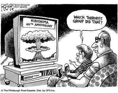 Boy on dad's lap asks which terrorist group gets credit for nuking Hiroshima