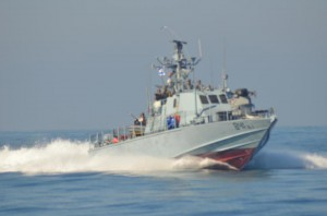 Israeli Navy fires on Gaza Fishermen on November 28, 2012 Photo: Maher Alaa