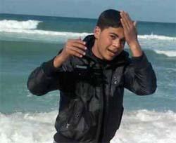 Mostafa Abu-Jarad, 21, was working on his farm in Beit Laheya when the Israelis shot him. Photo credit: Middle East Monitor