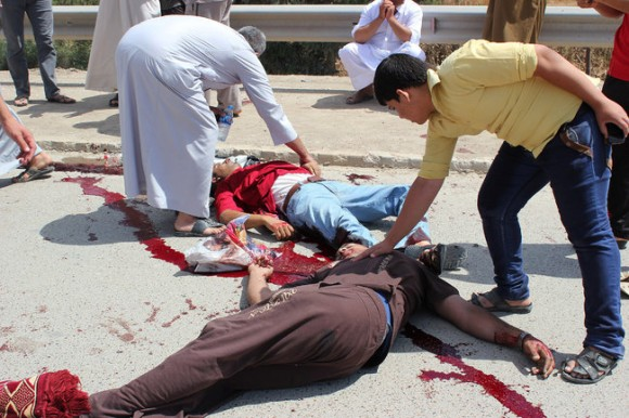 Victims of a bombing in Iraq, May 2013. Credit: AP