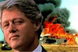 President Clinton & a burning Waco in 1993