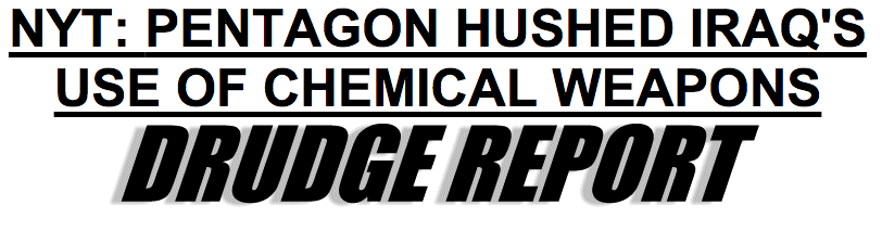 NY Times Deceived Americans on WMDs and Iraq Once Again, This Time with Help From The Drudge Report