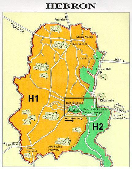 Hebron Israel Map Hebron, , by Ran HaCohen